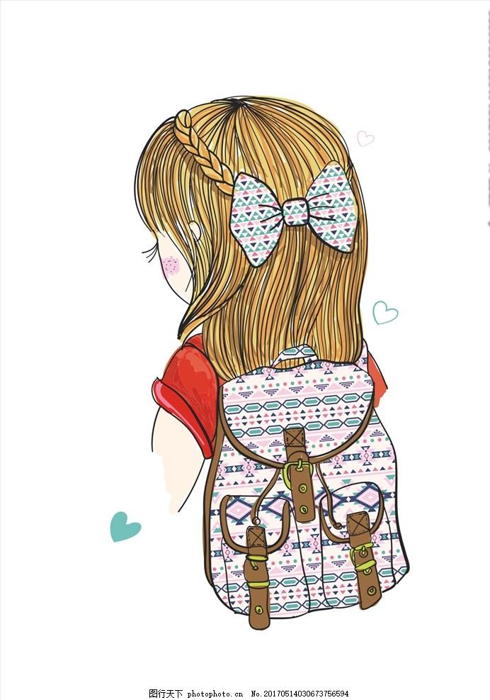 可爱卡通美女素材下载 服装设计 男装设计 女装设计 童装设计 服装