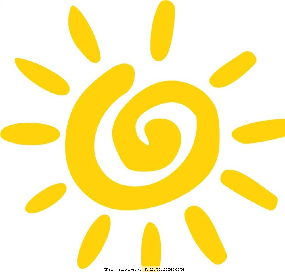 校园素材 太阳 矢量 阳光 手绘 图片素材