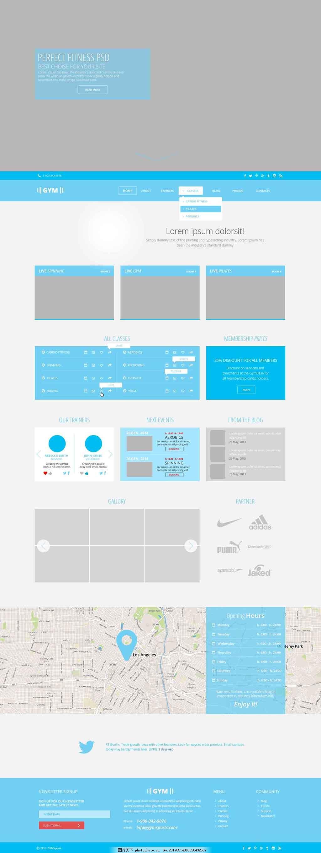 网页创意排版蓝色UI推荐做园林设计设计的书有哪些图片