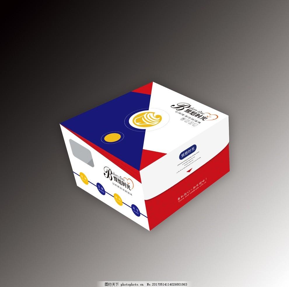 蛋糕盒 一体对插 高档 侧开窗 展开图 一体蛋糕盒 设计 广告设计 包装