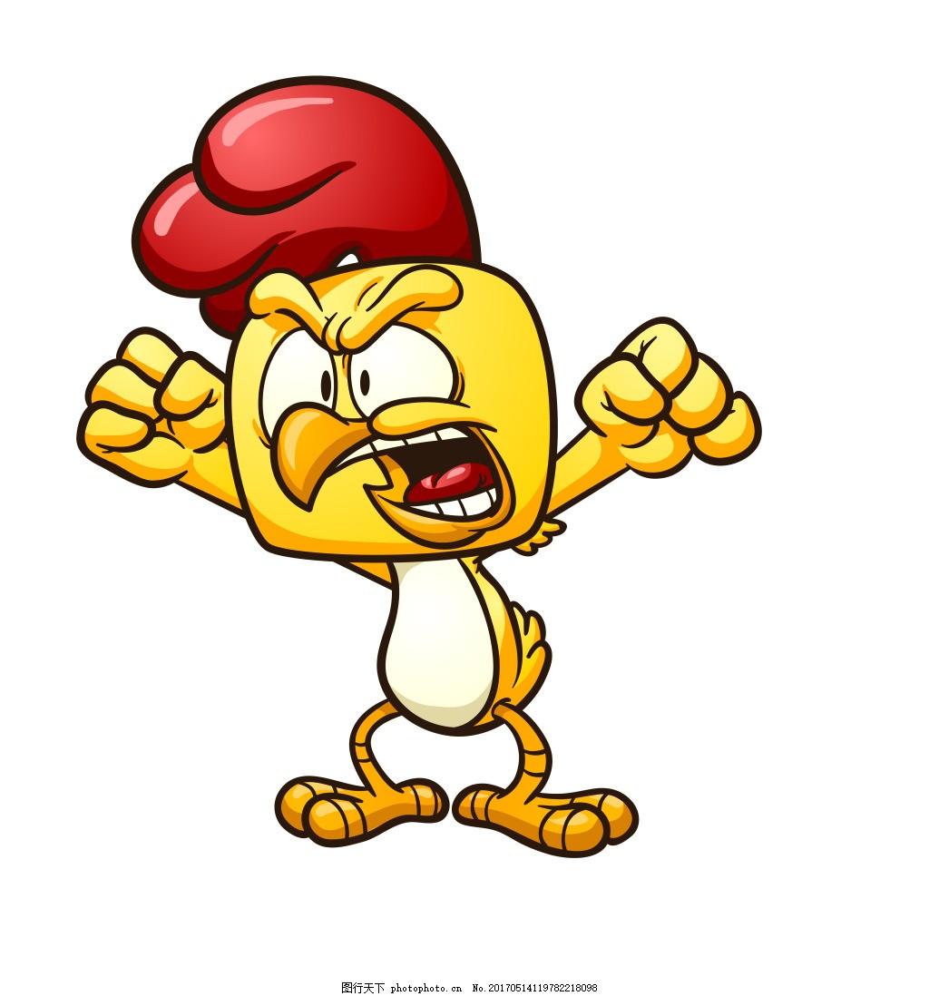 卡通生气公鸡eps,卡通公鸡表情图片下载 可爱鸡 矢量