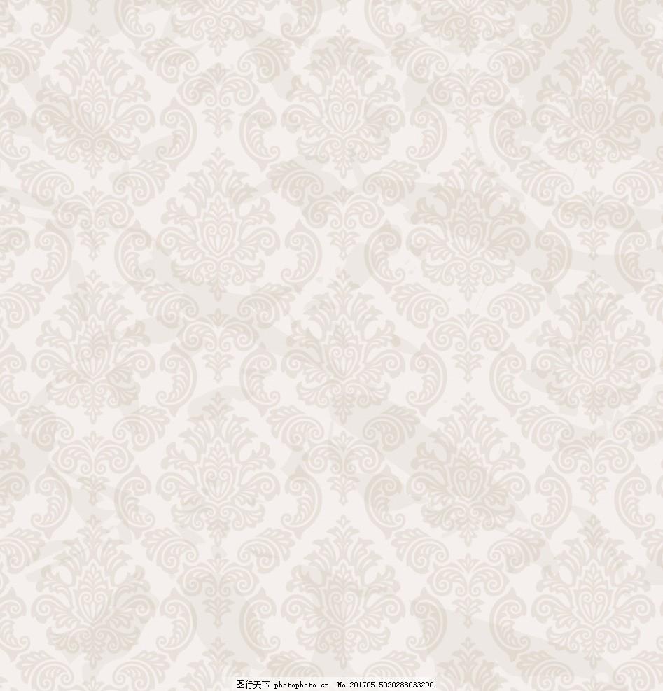 欧式 花纹 墙纸 矢量 英伦风 底纹 设计 底纹边框 背景底纹 ai