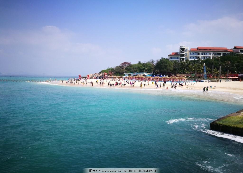 蜈支洲岛海滩 海南 三亚 亚龙湾 沙滩 海水 大海 海天一色 摄影