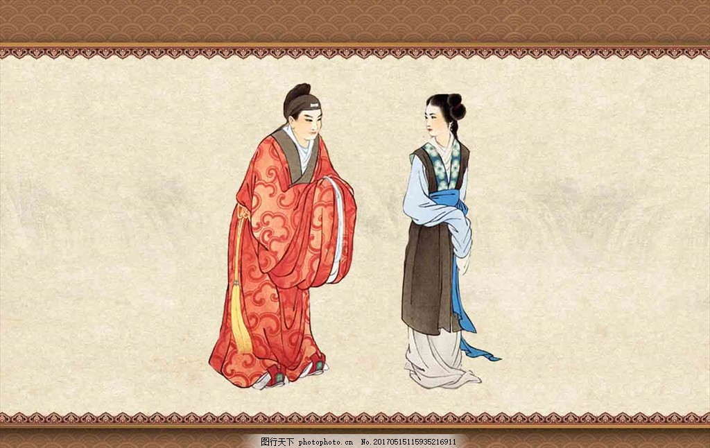古代素材 侍女图 国画美女 美女国画 古装美女 国画人物 古典美女
