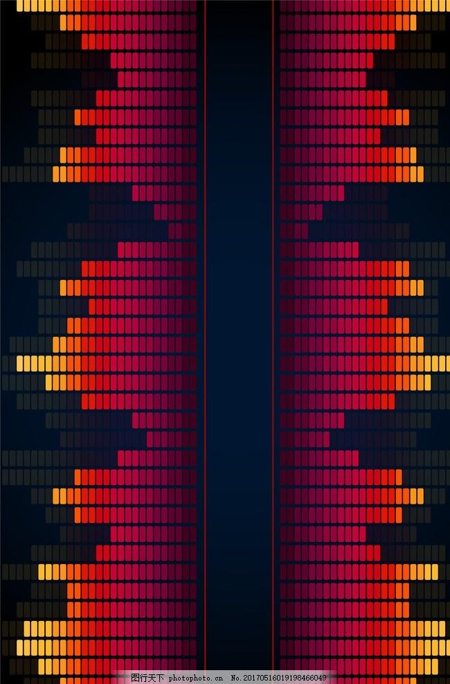 音乐 节奏 音符 跳动 喇叭跳动 音频跳动 闪烁 音响 音响跳动 频谱
