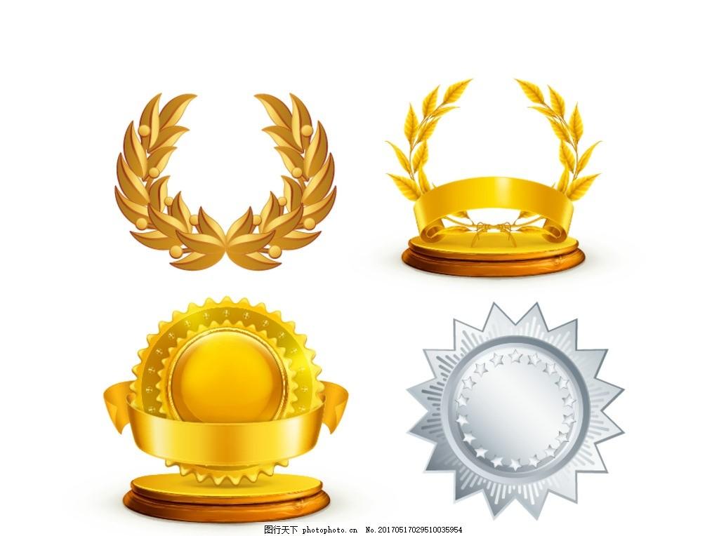 装饰边框 麦穗 边框 金色丝带横幅 花边 金色 丝带 皇冠 欧式 华丽