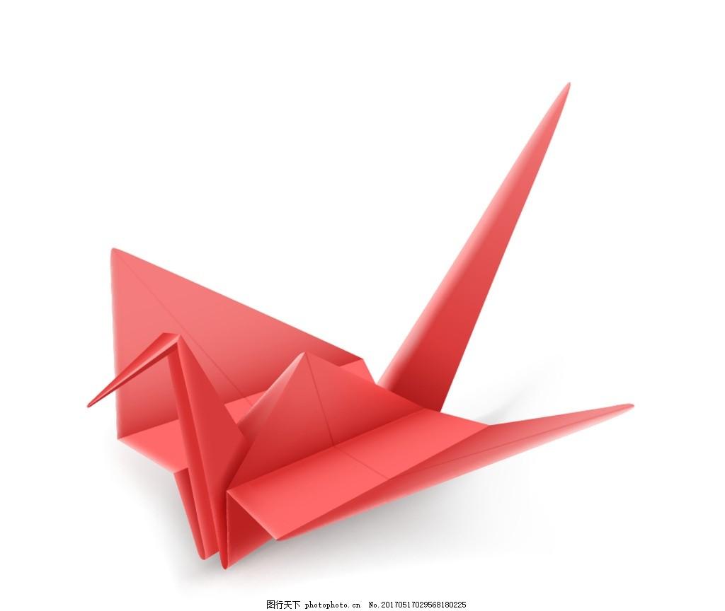 千纸鹤 矢量素材 手绘 折纸 折纸艺术 叠纸 矢量千纸鹤 白色千纸鹤