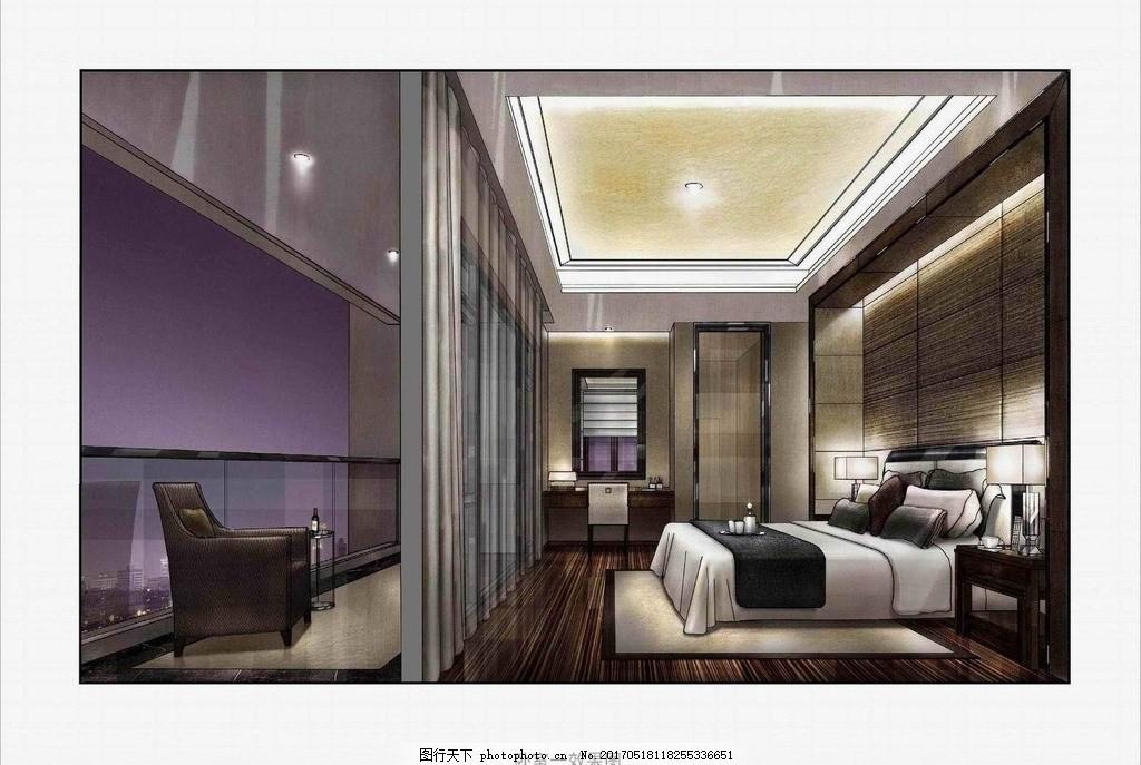 室内设计手绘彩图 装饰 装修 室内设计手绘图 环境设计