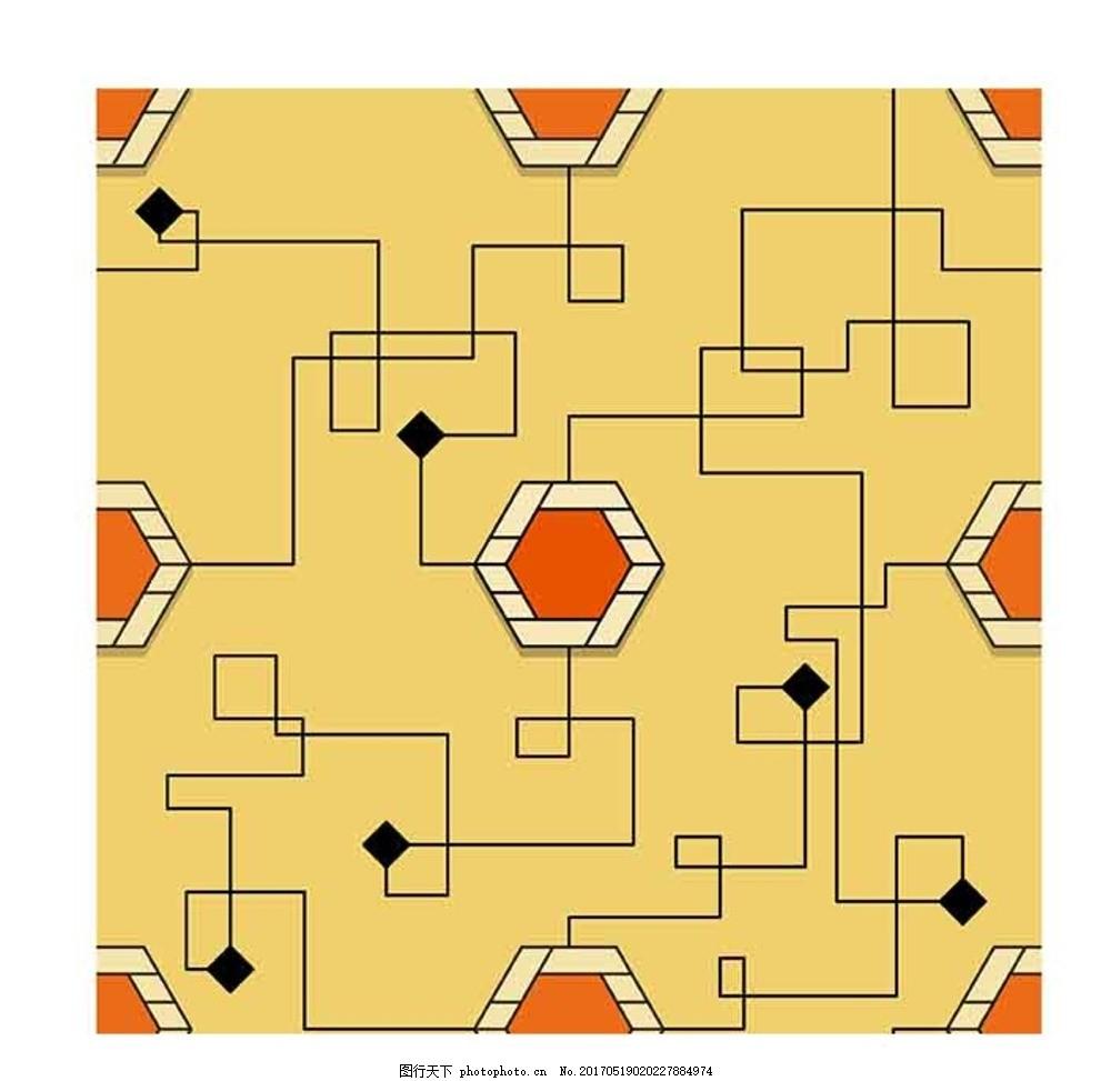 六边形 线条 线路图 电路图 花纹 设计 底纹边框 背景底纹 ai