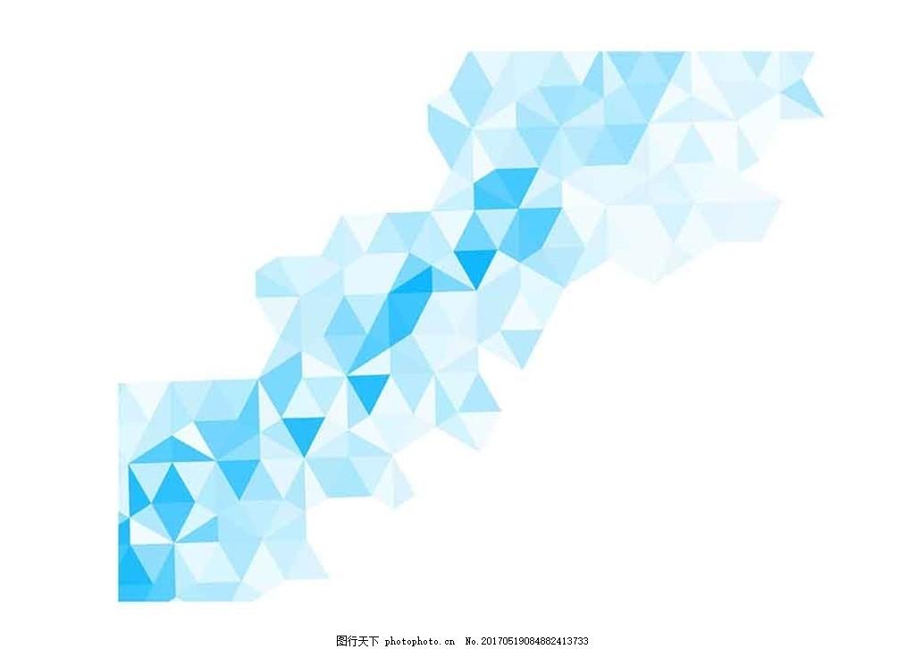 矢量三角形设计感背景素材 菱形 平行四边形 底纹 图形创意 深蓝图片