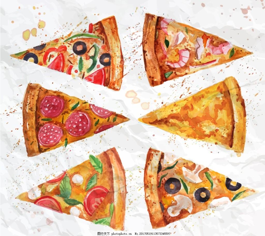 披萨 西餐 披萨海报 手绘披萨 必胜客 洋葱 西红柿 中餐 午餐