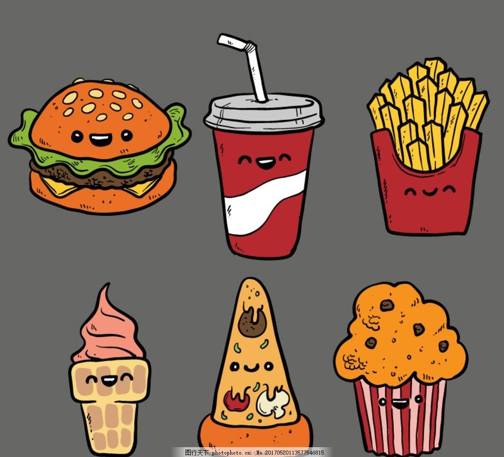 汉堡美术图片简笔画