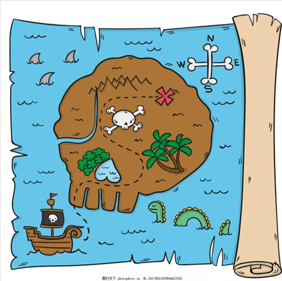 漂流瓶手绘漫画图片