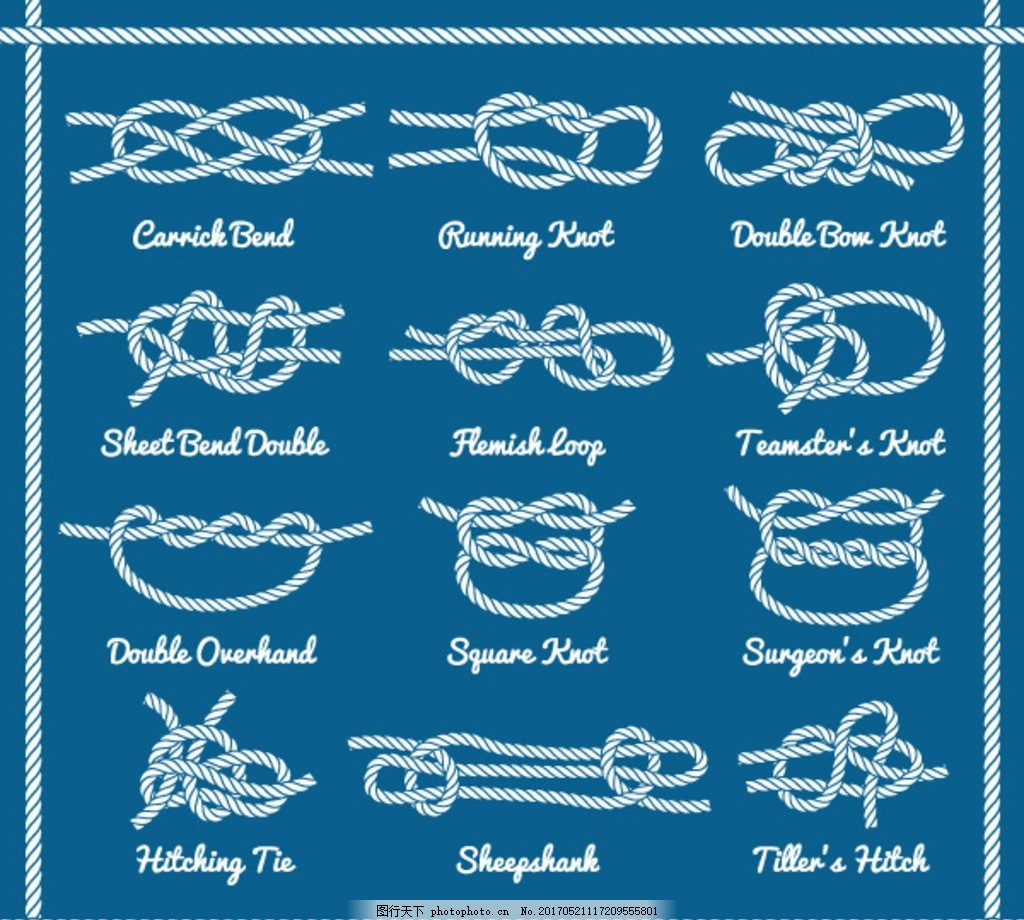 绳结图案 绳子 麻绳 创意图形 心形 箭头 边框 花边 圆形 星星 花纹