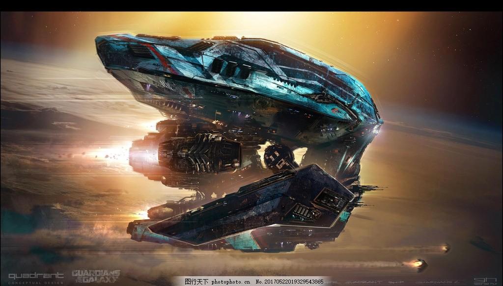太空飞船的科幻电影_太空飞船 太空之旅 场景概念 概念图 漫威宇宙 漫威影业 漫威宇宙电影