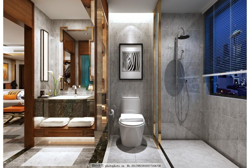 洗手间效果 家装客厅效果 室内设计 装饰 装修 混搭风格 实景图