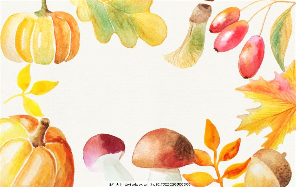 手绘 水彩画 花卉素材 花卉插画 清新 水彩花卉 花卉背景 剪纸 手绘