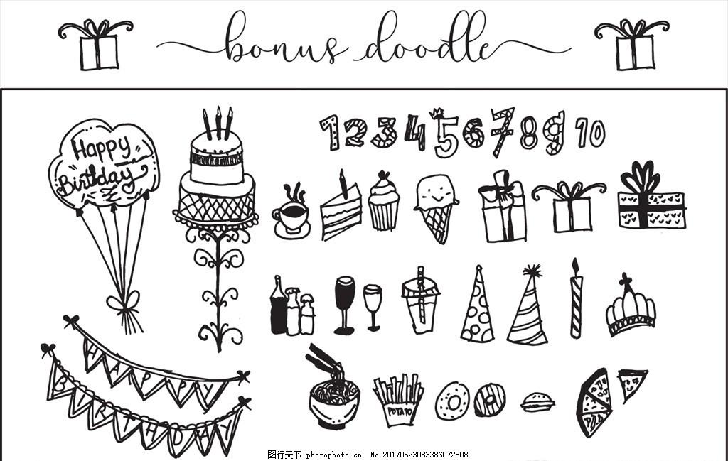 礼物盒简笔画-造的冰淇淋蛋糕