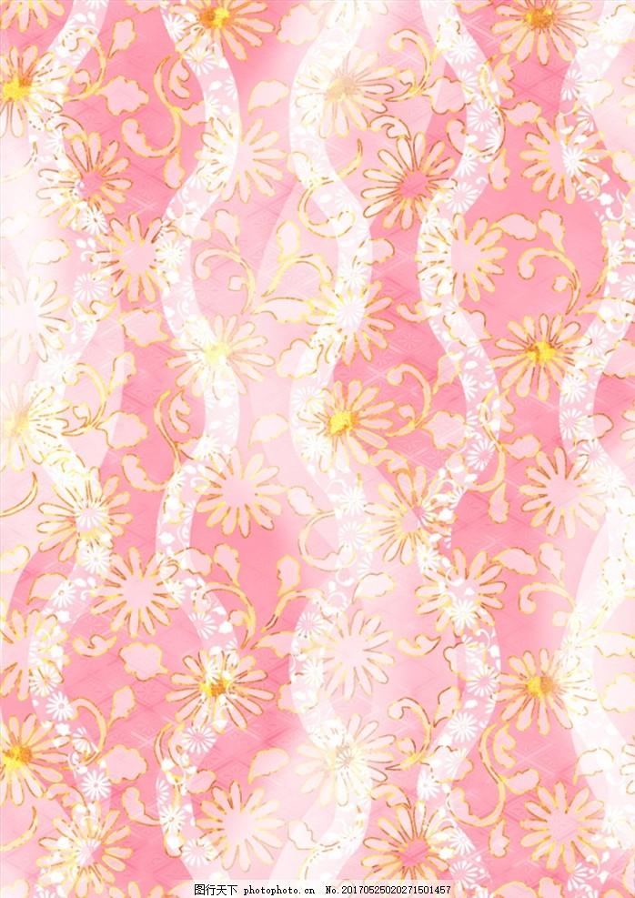 和风底纹 梦幻背景 底纹 日式花纹背景 艳丽色彩 背景 色彩 时尚花纹