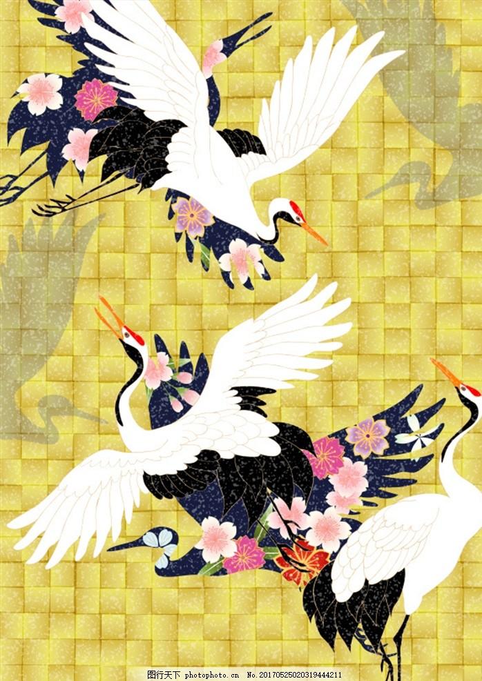 日式和风鼔手绘