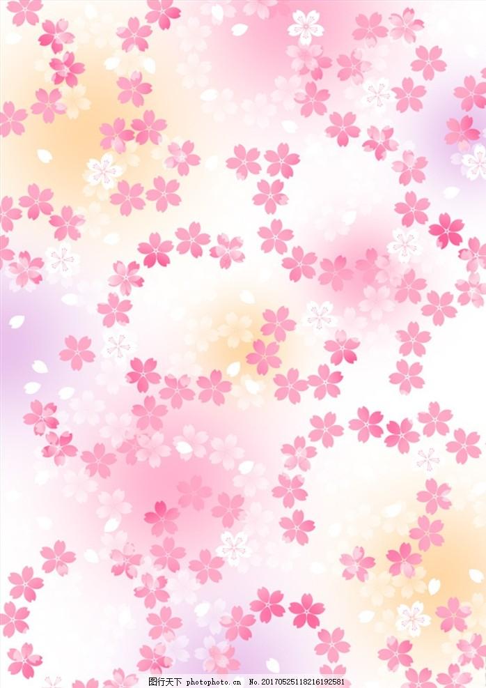 和风 民族风 展板 花 夏日 x展架 日式花纹 祥云 樱花 花朵 花瓣 背景