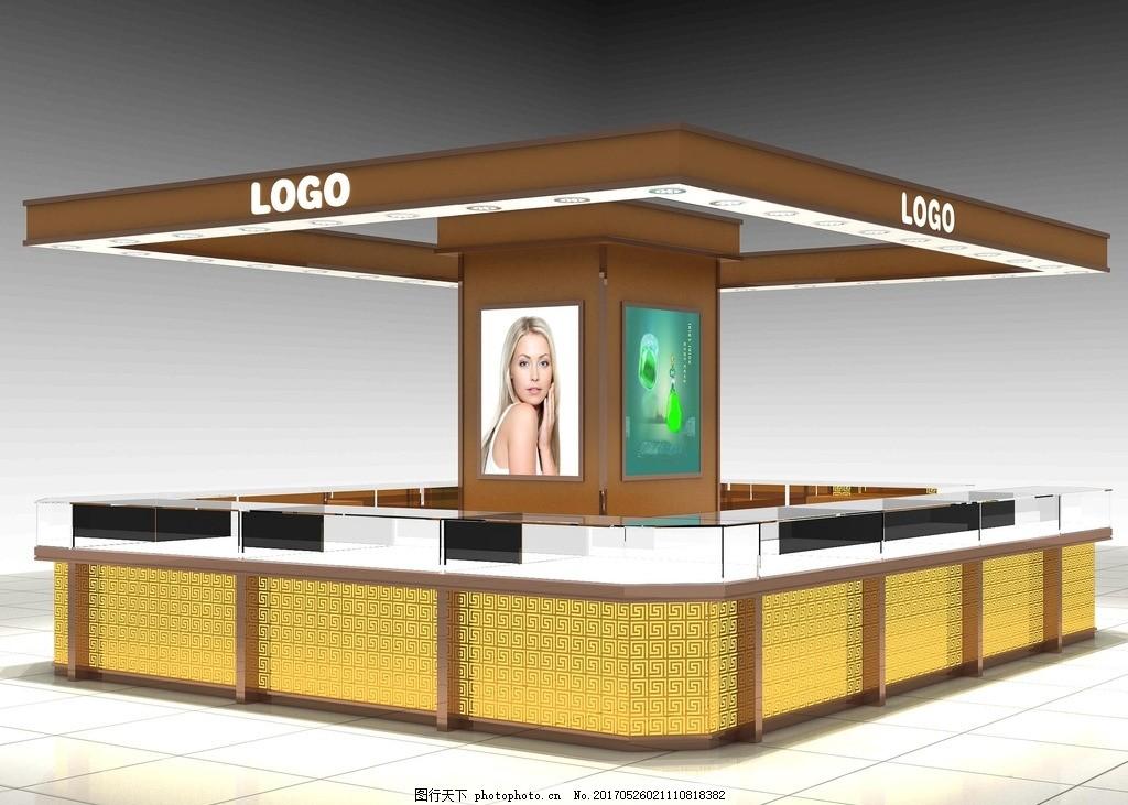 珠宝柜台 茶镜 形象 珠宝 柜台 展柜 设计 3d设计 3d作品 72dpi jpg