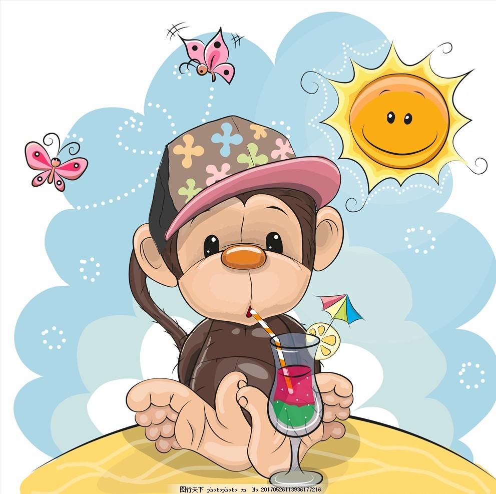 卡通淡彩动物 淡彩 手绘动物 可爱 水彩 卡通动物 设计 广告设计 卡通