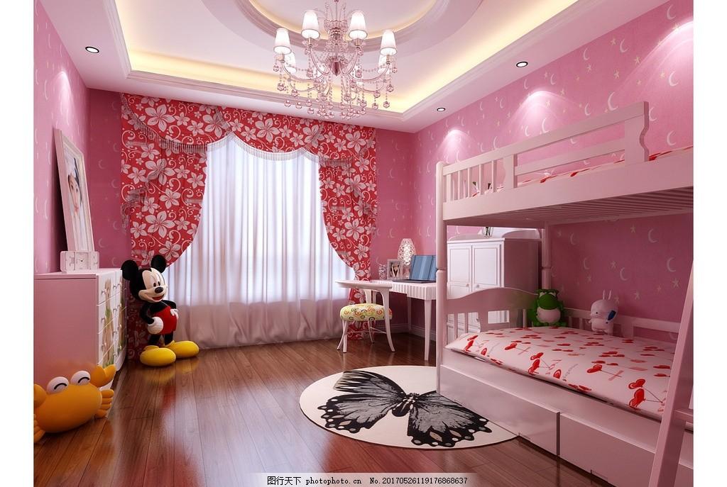 欧式粉色窗户素材