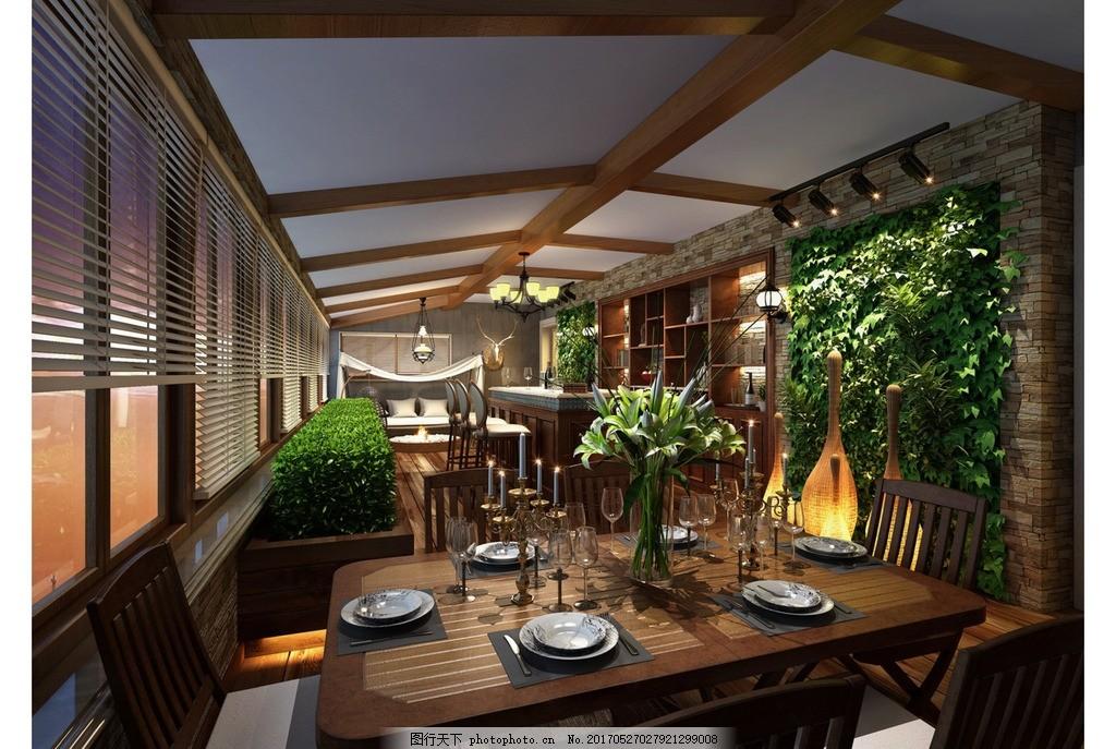 家装餐厅效果,家装客厅效果 装饰 装修 混搭风格 实景