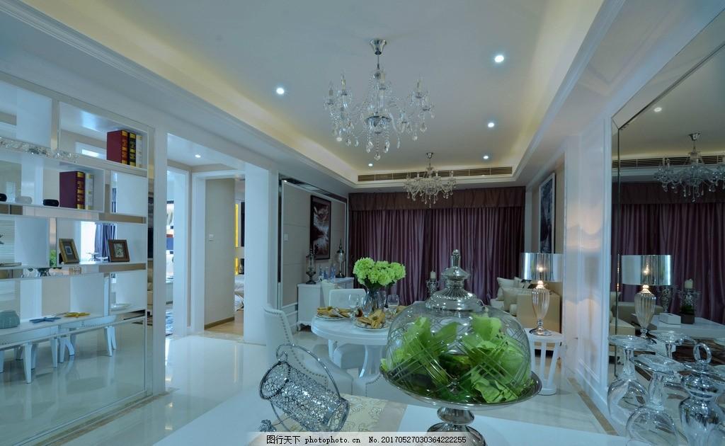室内装饰实景图 室内设计 装修 家装 欧式 简欧 欧式简欧室内装实景图