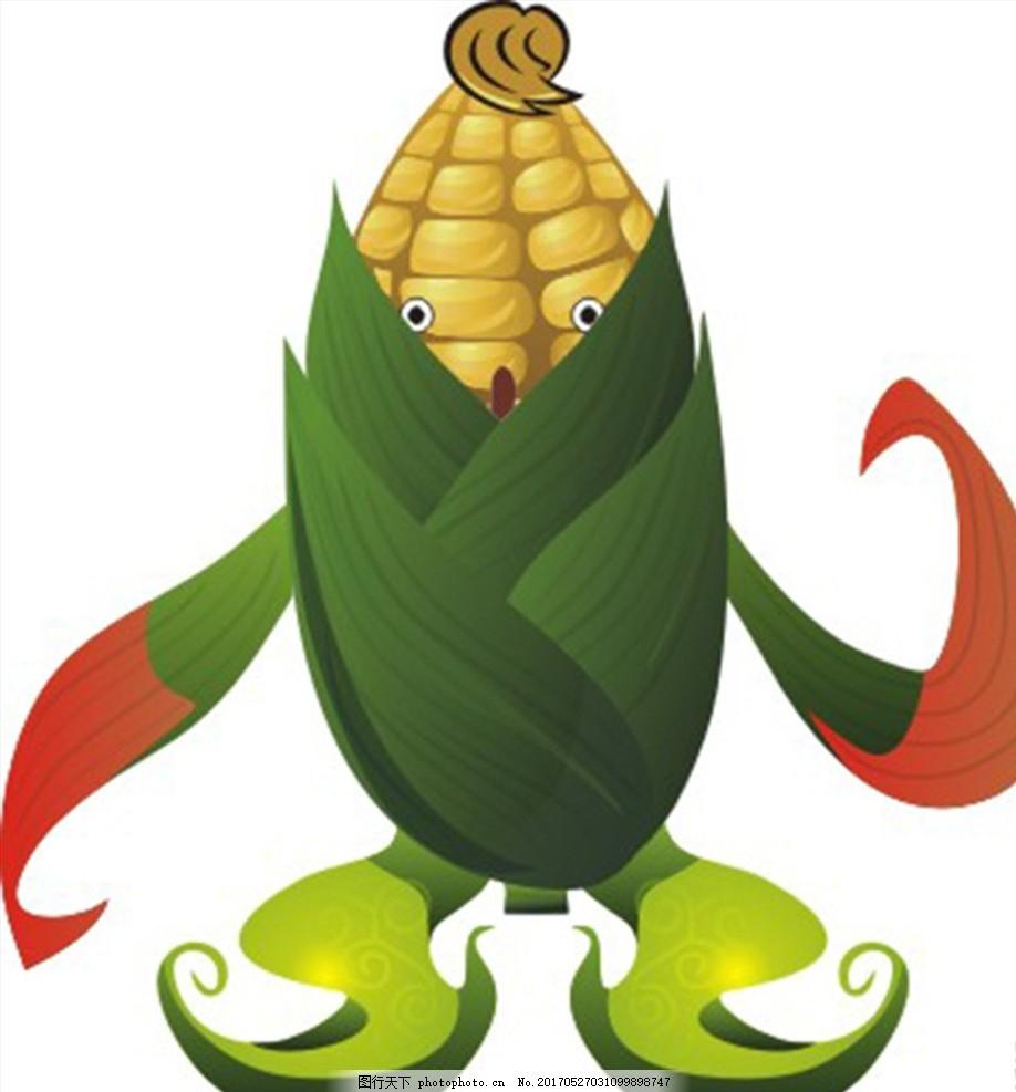 卡通玉米怪 卡通玉米 矢量玉米 玉米怪 可爱玉米 玉米吉祥物 设计
