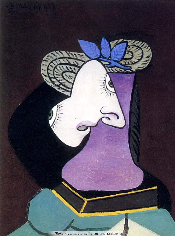 绘画艺术 女性 少女 妇女 线条轮廓 女性人体 人体 抽象油画 毕加索