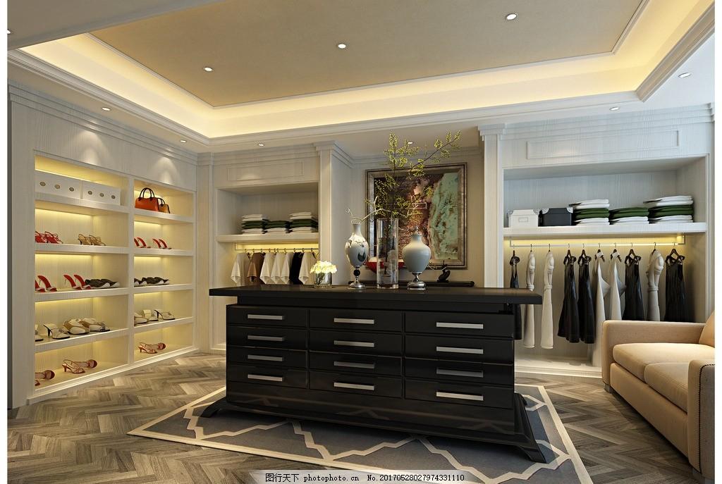 家装衣帽间效果 家装客厅效果 室内设计 装饰 装修 混搭风格 实景图