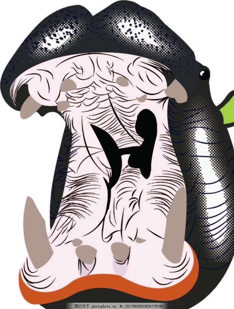 动物河马矢量图 河马 矢量图 动物 卡通 头部 设计 其他 图片素材 ai