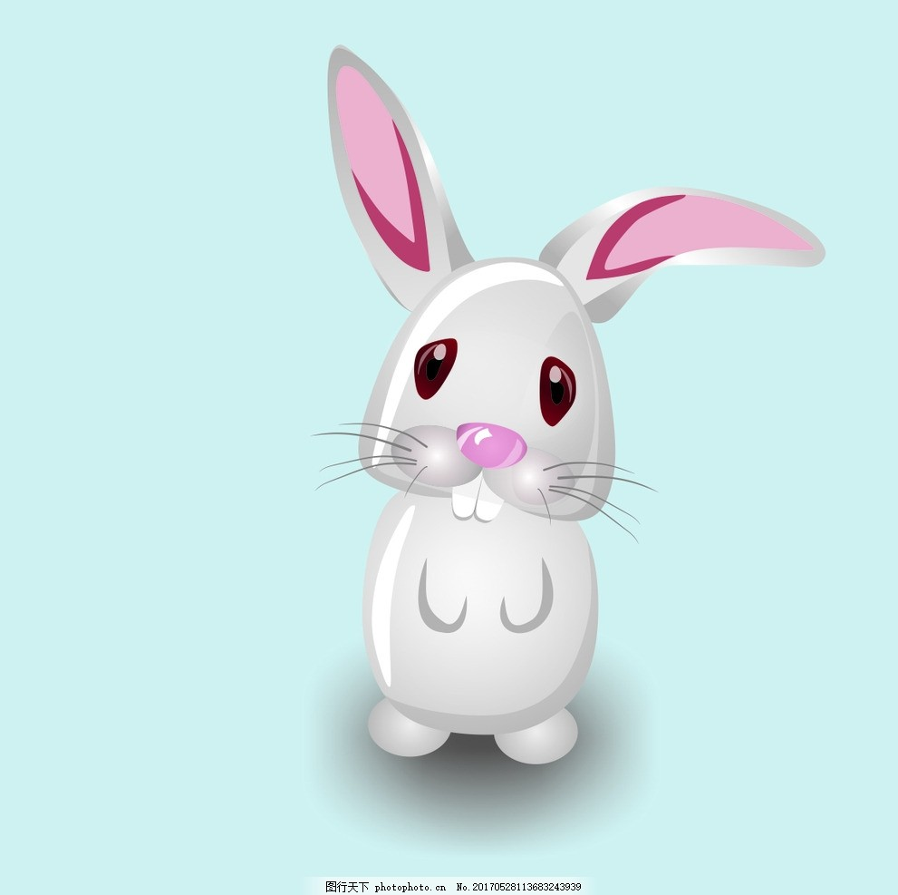 卡通兔子 矢量 分层 可爱小动物 cdr 兔兔 设计 动漫动画 动漫人物