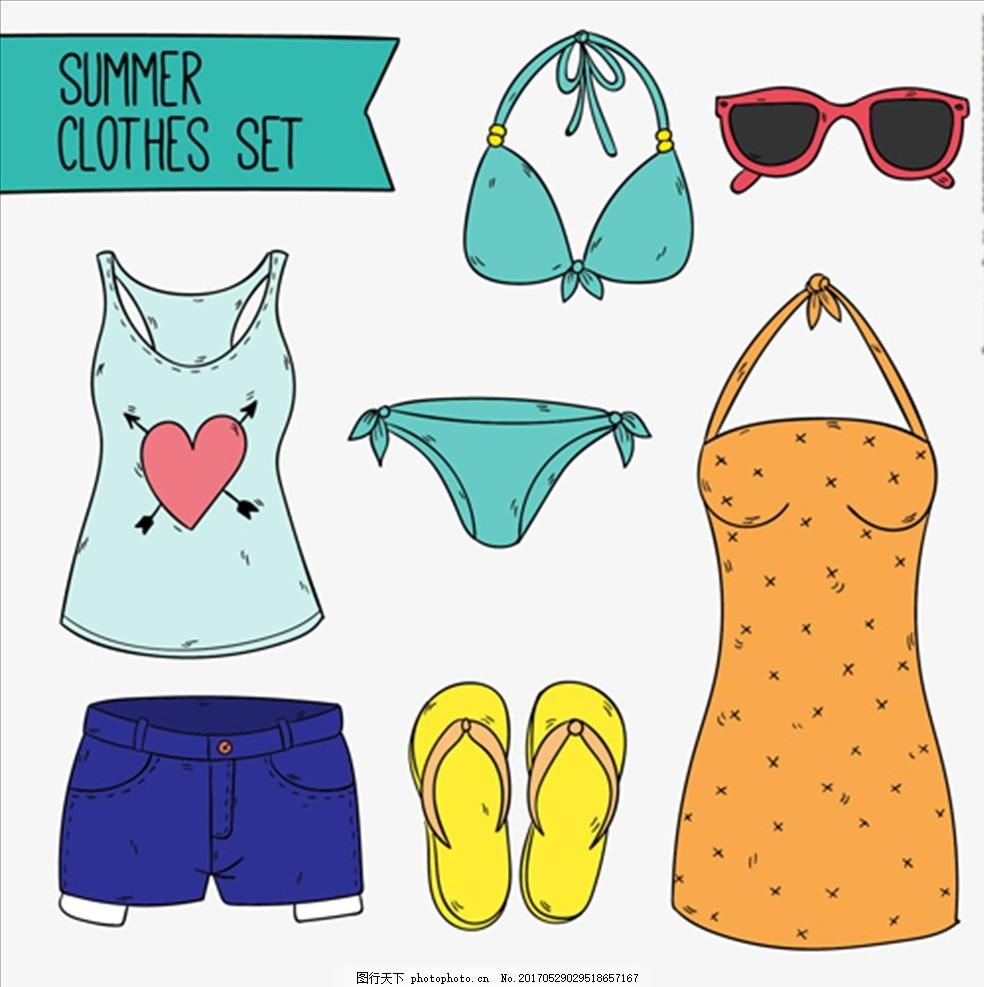 手绘女性夏季服饰