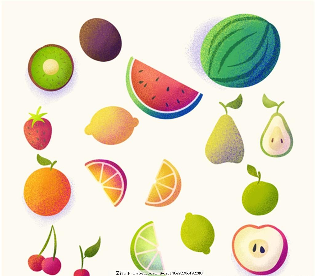 手绘水彩水果集