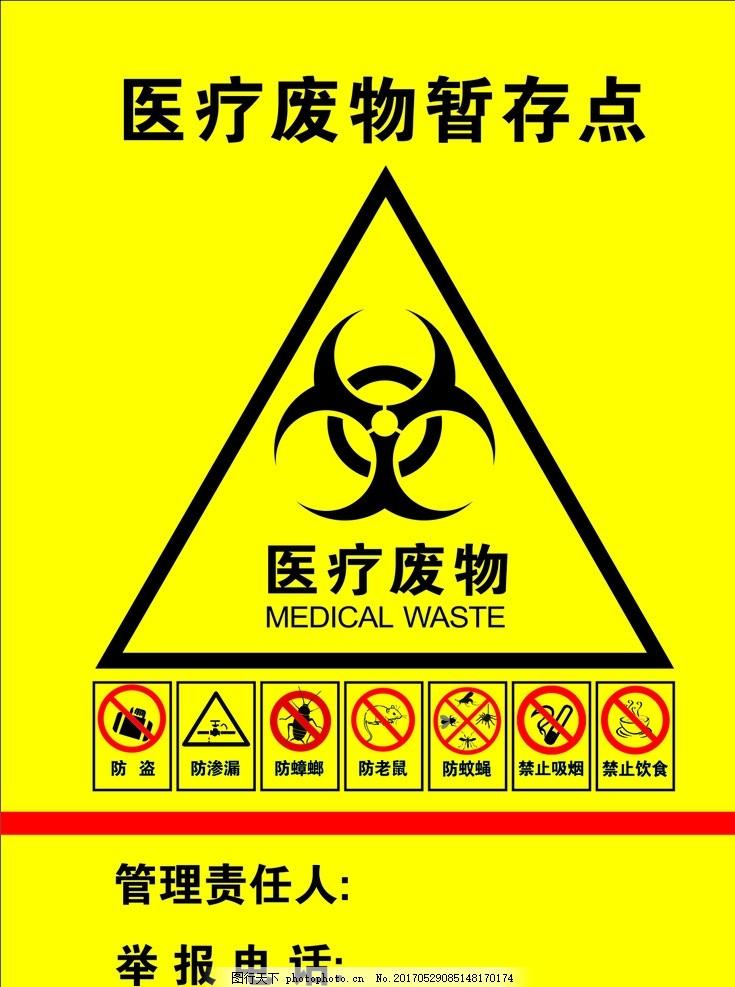 医疗废物暂存处标志图片