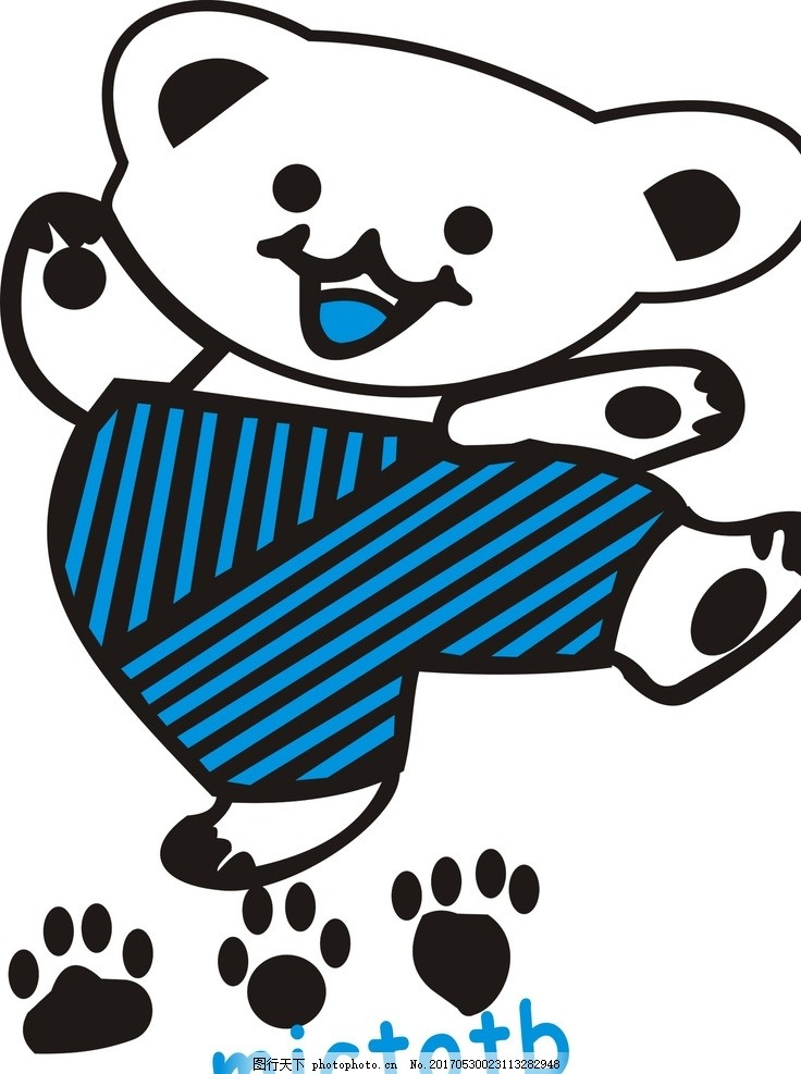 可爱小熊 卡通 矢量图 免费下载 动物 可爱 手绘图 背景图案 创意
