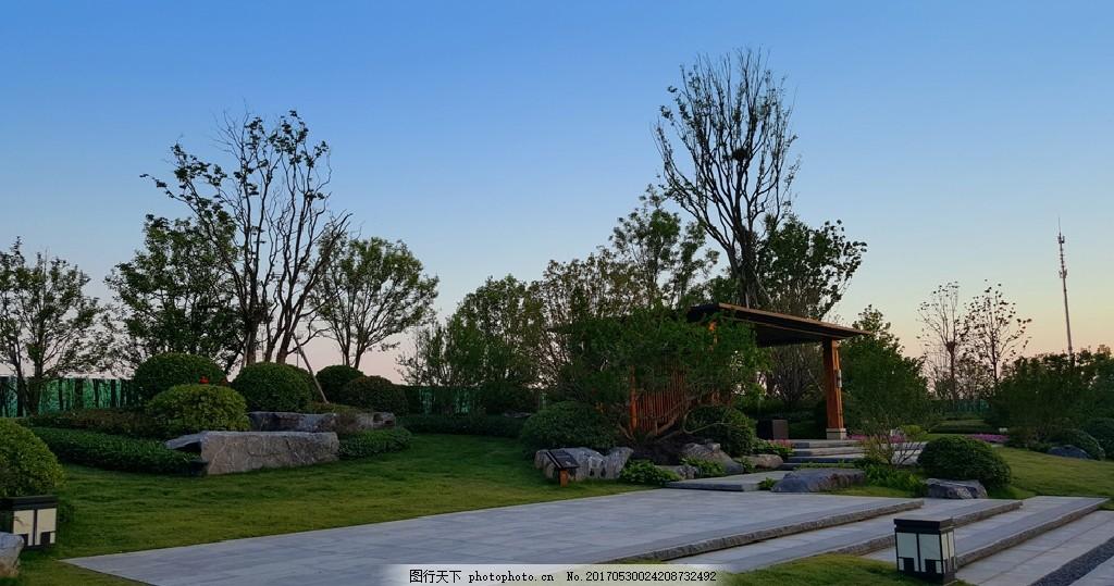 园林景观 售楼部 售楼部景观 售楼部小品 花草植物 雕塑 雕塑小品