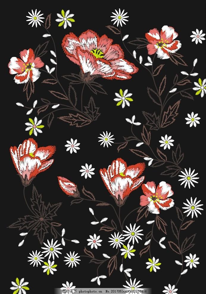 植物花朵花卉素材下载 小花 手绘花朵 绿叶 叶子 花朵花卉绿叶