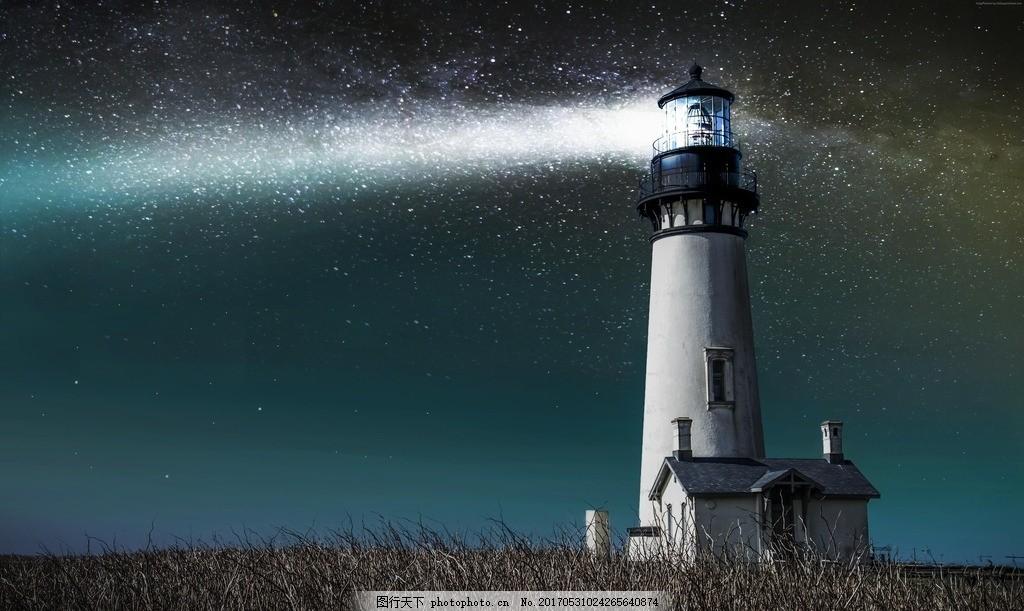 海边唯美灯塔
