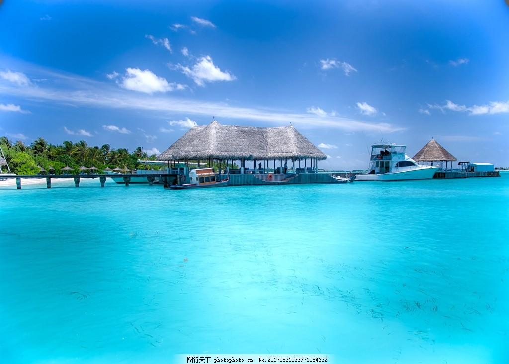 马尔代夫度假 双鱼岛 水上屋 马尔代夫 棕榈 棕榈树 海边风景 风光