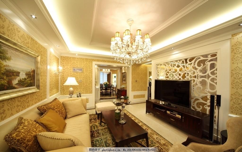 室内装饰实景图 室内设计 装饰 装修 家装 实景图 欧式 简欧 欧式简