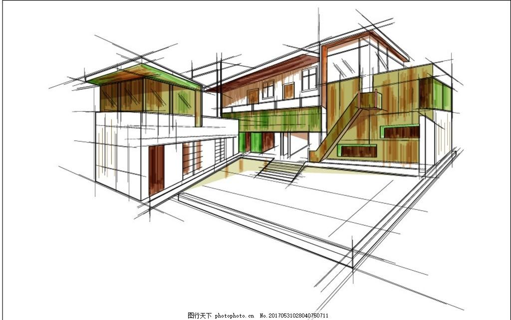 建筑线稿图