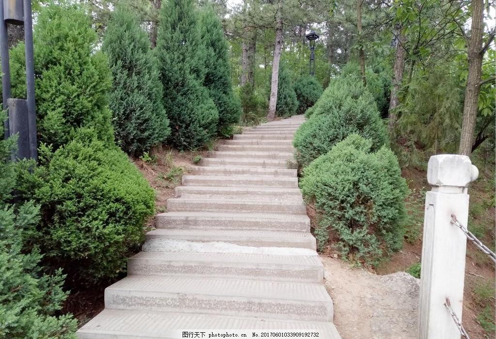 綠色風景 自然風景 石梯欄桿 青山綠樹 夏天風光 旅游風景 攝影