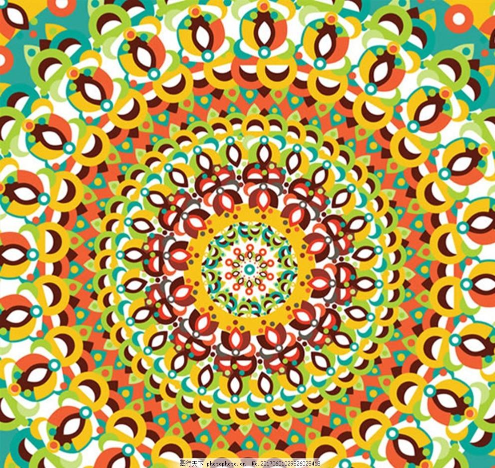 花纹 背景花纹 拼接花纹 欧式花纹 矢量花纹 茶几花纹 角花花纹 对称