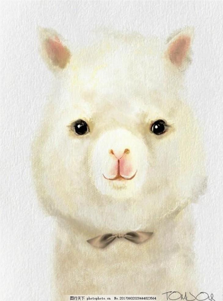 卡通装饰画 羊骆驼 可爱 动画 小动物 萌萌哒 头像 高清素材