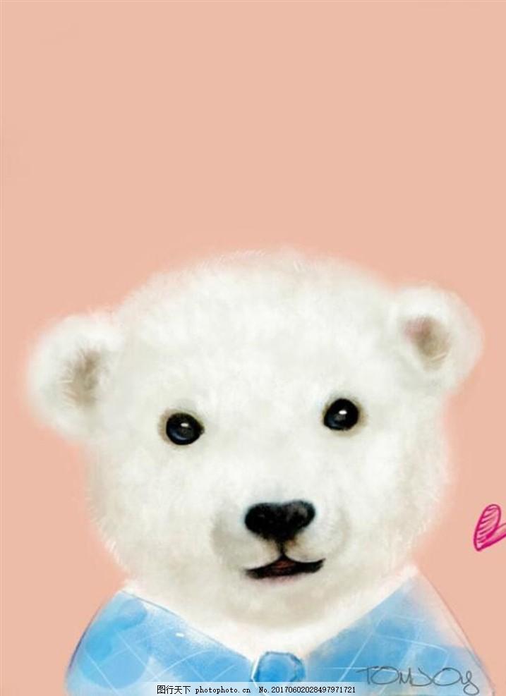 卡通装饰画 小熊,可爱 动画 小动物 萌萌哒 头像-图行
