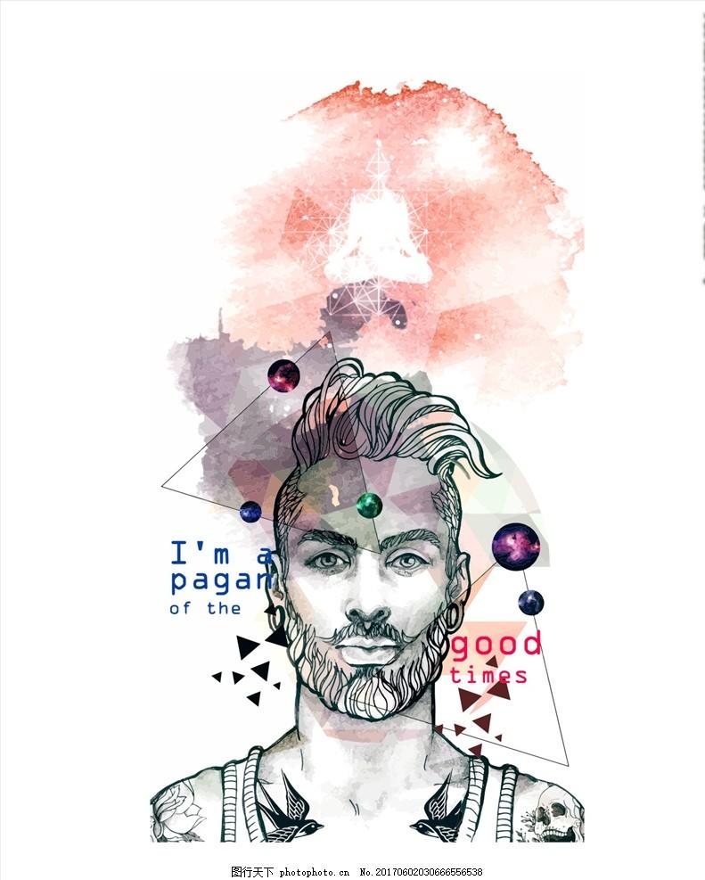 设计 面料印花 布料印花 人物 手绘人物 人物插画 模特 涂鸦人物 人像